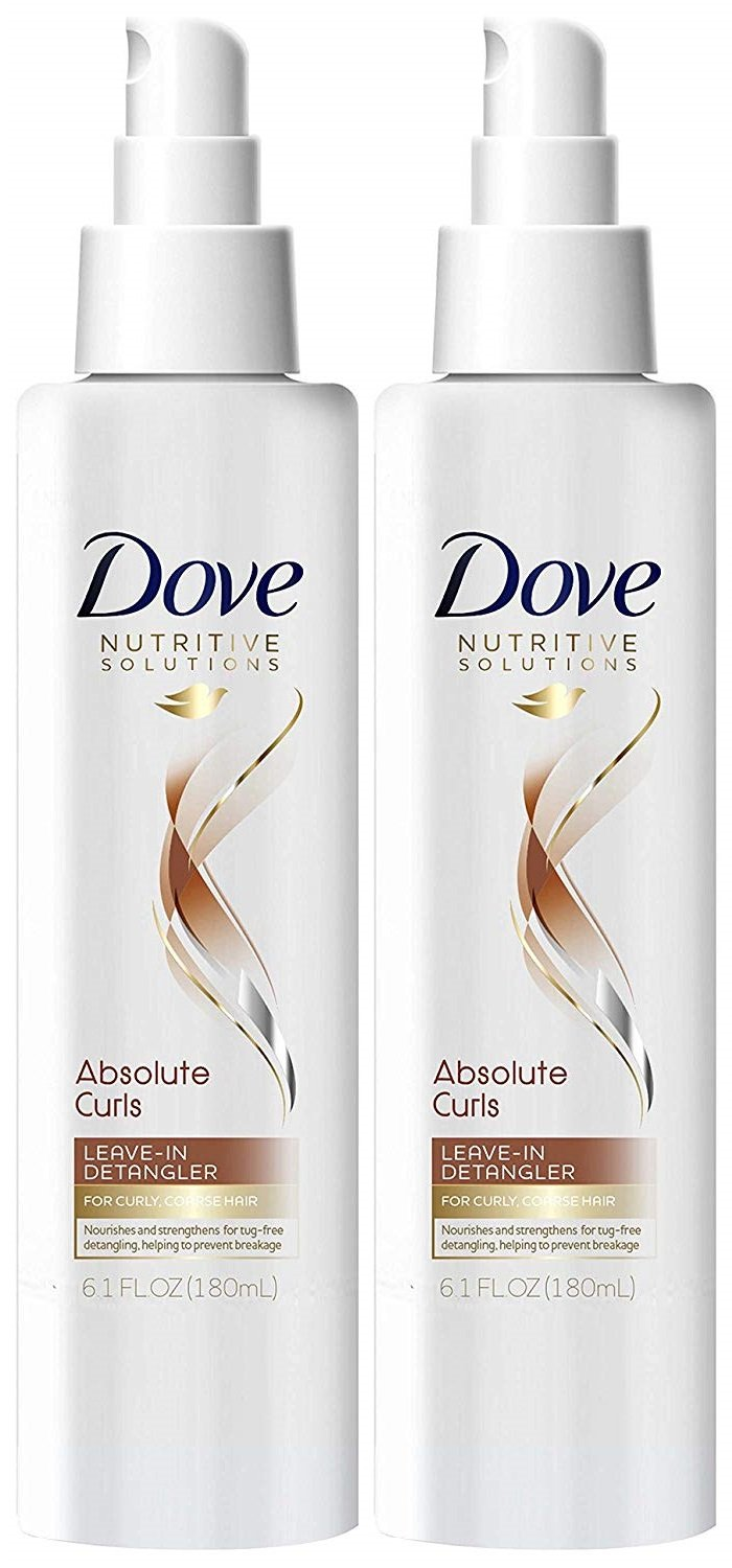 Dove Nutritive Solutions Absolute Curls Leave-in Detangler, 6.1 Ounce (Pack of 2)