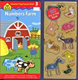 Numbers Farm Wooden Peg Puzzle Books, Susan Hood, 1589478495
