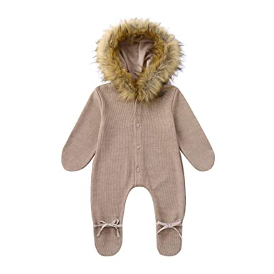 Mameluco Abrigo bebé recién Nacido de 0-24 Meses, Pijamas de Punto ...