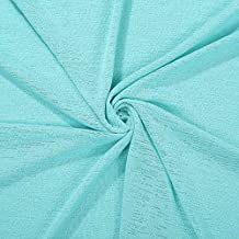 Linen Effect Jersey Knit Neotrims Fabric,Beautifully Soft Drape,Crisp Texture Handle,Dress Apparel & Baby Photography Backdrop – Aqua Turquoise - 1 Mt