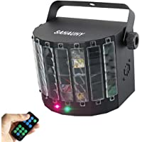 DJ Party Lights,SAHAUHY 2 in 1 Professional DMX 512 LED Stage Lights Laser Lighting with Remote Control (LED+Laser…
