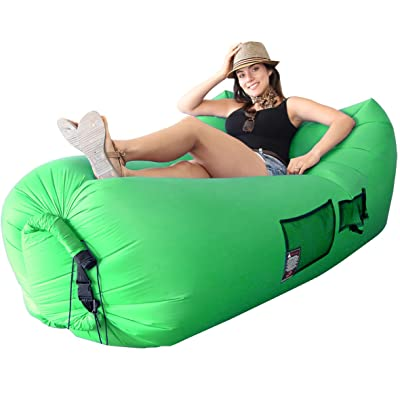 EasyGoProducts Woohoo 3.0 Giant Outdoor Inflatable Lounger with Carry Bag, Green : Sports & Outdoors