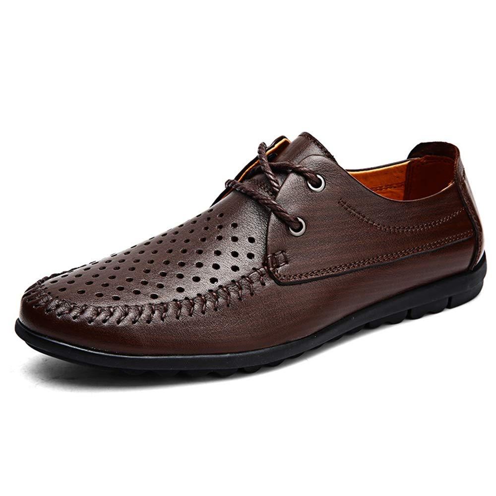 Hollow bspringaaa 2019 herr Oxford skor for män Formal skor skor skor OX läder Lace Up Style Simple ljus Flexible modeable (Hollow valfri) (Färg  svart, Storlek  8.5 UK)  försäljning online