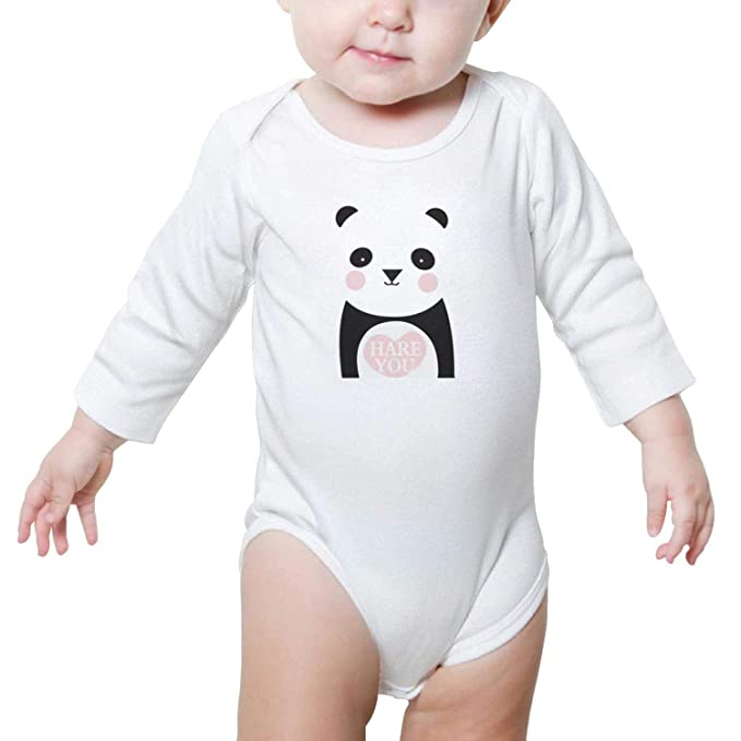 82d601ea5 Cute Panda Hug Heart Hare You Cool Design Baby Girl boy Onesies Outfit  Newborn Clothes Toddler