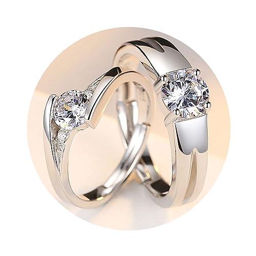 Amazon.com: Tidoo joyas un par de boda pareja anillos para ...