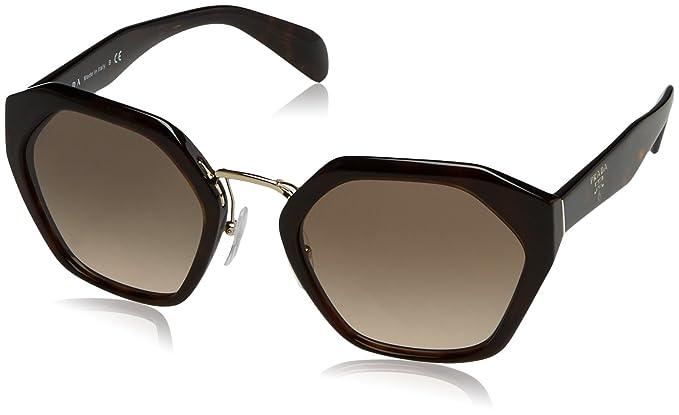 Prada Damen Sonnenbrille 0PR04TS 2AU3D0, Braun (Havana/Brown), 55