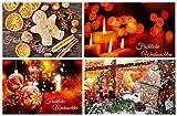 24 nostalgische Weihnachtskarten