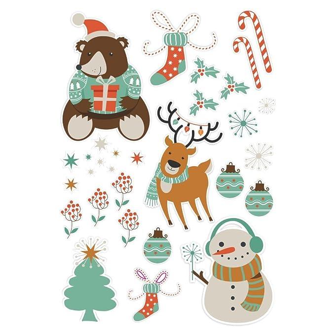 malango® Weihnachtsmotive mehrfach verwendbar Fensterfolienset ...