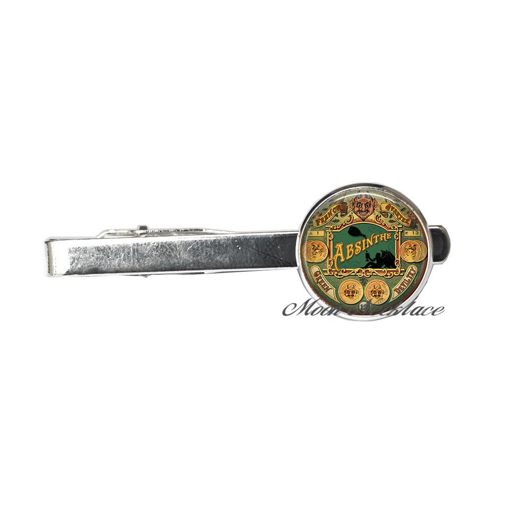 Steampunk jewelry Steampunk Halloween Tie Pin Halloween Tie Clip A Halloween jewelry,Fashion jewelry,for her birthday,photo Jewelry Glass Tie Pin-ZE079 photo Jewelry Glass Tie Pi CrescentMoonNecklace Absinthe Tie Clip