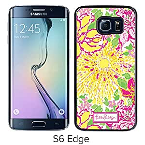 Beautiful Designed Case With Lilly Pulitzer 11 Black For Samsung Galaxy S6 Edge Phone Case