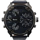 Fami Luxe militaire étanche Army Fitness Temps Quartz double grand cadran montre-bracelet