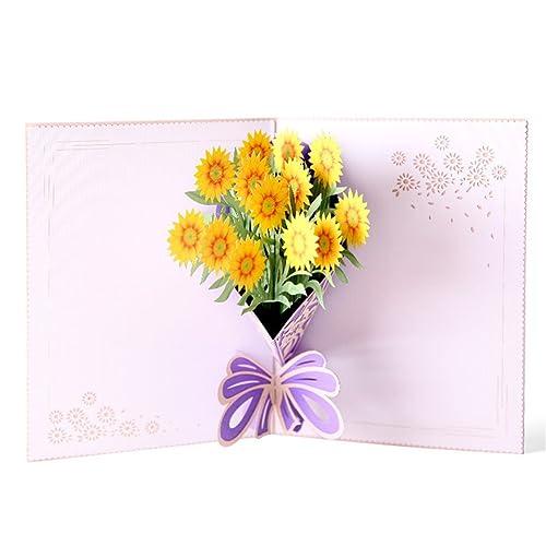 Aruie tarjeta de felicitación 3d ramo de flor del sol ...