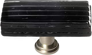 product image for Sietto LK-802-SN Texture 2 Inch Long Rectangular Cabinet Knob
