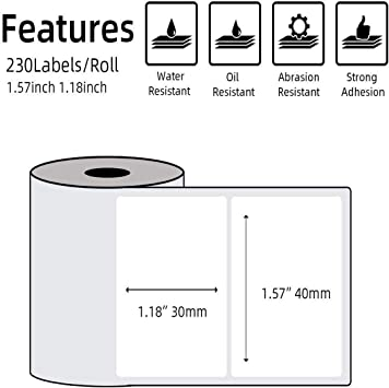 It is a picture of Glossy Printable Sticker Paper regarding thermal paper