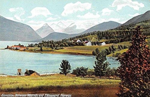 Sondor Norway Westnas Ellingaard Scenic View Antique Postcard J63050