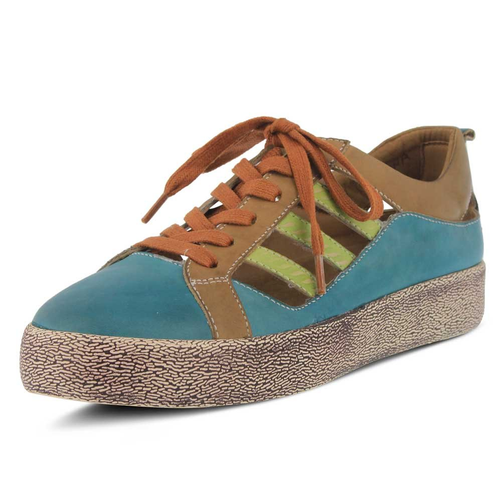 L`Artiste Womens Porscha Sneaker B079C27LR6 35 M EU Turquoise Multi Leather