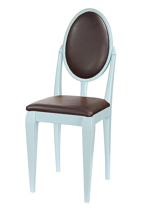 High Street design sedia per soggiorno blu con classico gambe e ...