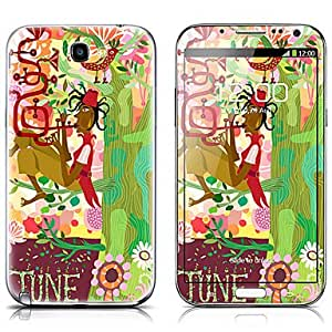 buy SX-107 Cartoon Design Pattern Front and Back Protector Stickers for Samsung Note 2 N7100