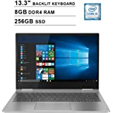 2019 Lenovo Yoga 730 13.3 Inch FHD IPS 2-in-1 Touchscreen Laptop (Intel Quad-Core i5-8250U up to 4.6GHz, 8G RAM, 256GB PCIe SSD, Intel UHD Graphics 620, Backlit Keyboard, JBL Speakers, Win 10)