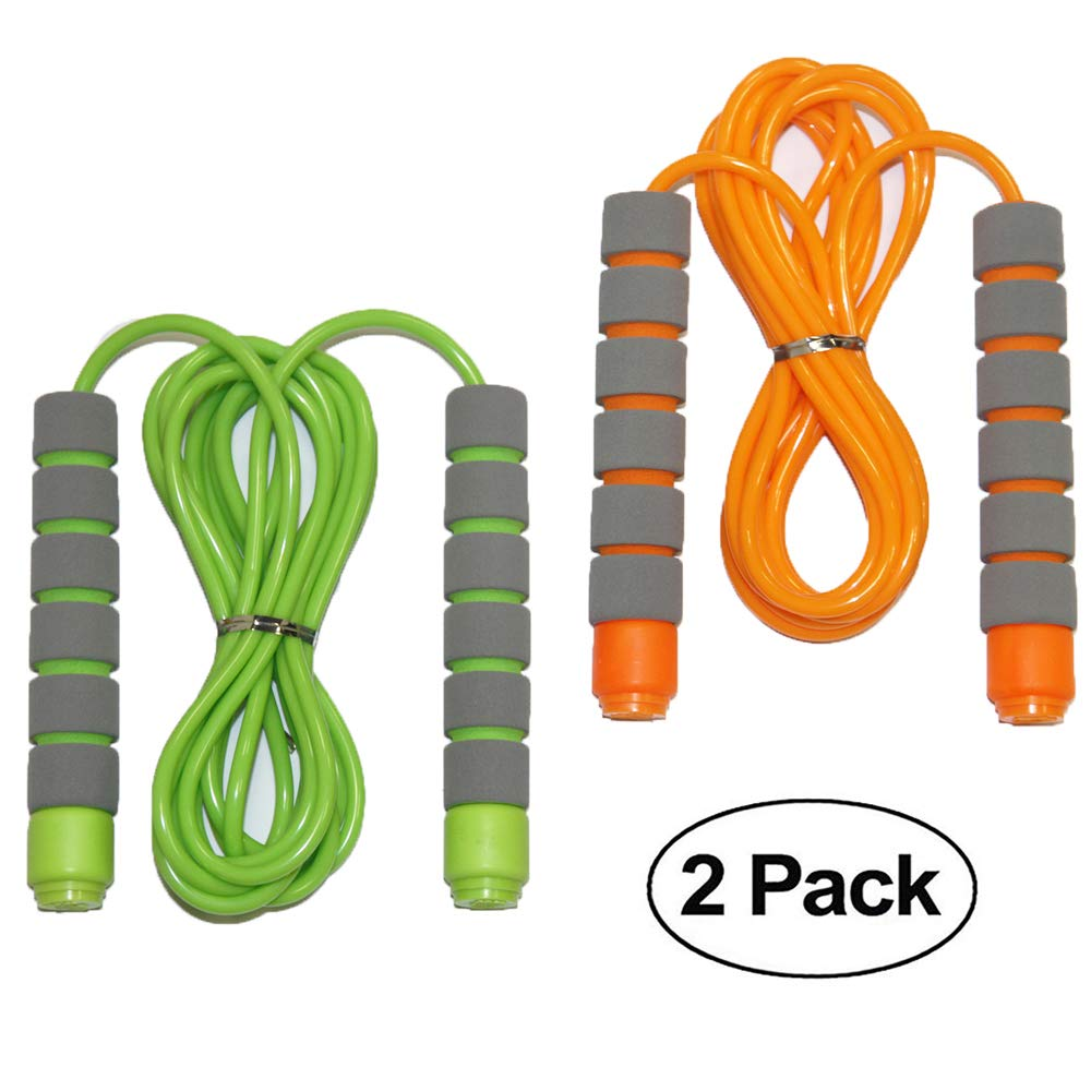 Adjustable Soft Skipping Rope with Skin-friendly Foam Handles for Kids, Children, Students and Adults