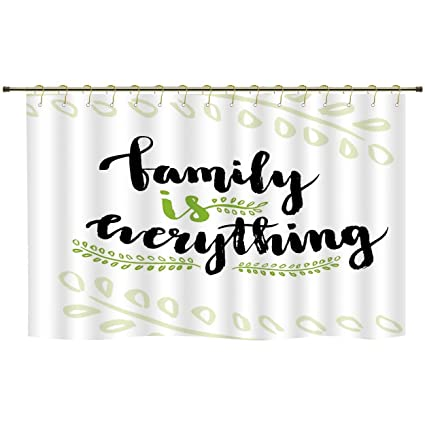 Amazon Com Iprint Shower Curtainfamilycute Lettering Family Is
