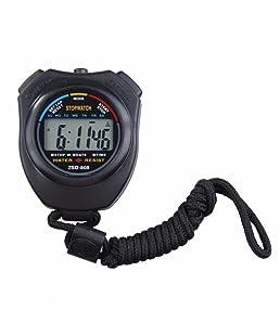 Cebbay Liquidación Reloj de regalo unisex Digital Profesional LCD de mano Cronógrafo Deportes Ocio Moda Noble Stop Cronómetro