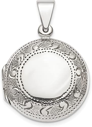 FB Jewels Solid 925 Sterling Silver Polished We Love You Mom Pendant