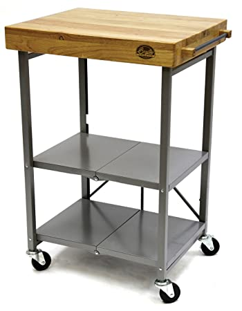 Amazon.Com - Bradley Smoker Foldable Kitchen Cart, Transitional
