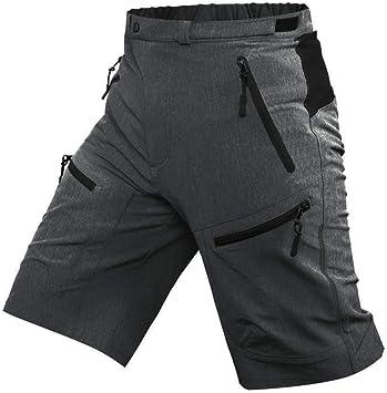 AIYL Pantalones Cortos de MTB para Hombres Pantalones Cortos de Ciclismo para Bicicletas Pantalones Transpirables para Bicicletas de MTB Pantalones Cortos de Ciclismo para Exteriores Grey-S
