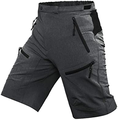 Men/'s Cycling Shorts Mountain Bike MTB Bicycle Shorts Zip Padded Riding Pants US