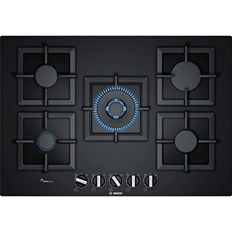 Bosch Serie 6 PPQ7A6B20 piano cottura Nero Incasso Gas: Amazon.it ...