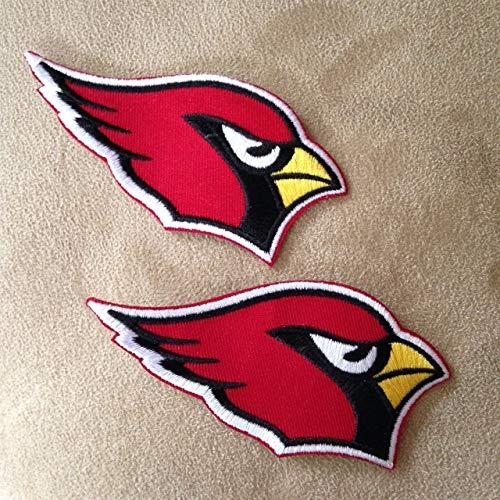 Cardinal Patch - Lot of 2 Arizona Cardinals Bird Team Logo Iron on NFL Football Jersey Patches
