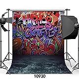 WOLADA 5x7ft Graffiti Style Vinyl Photography Backdrop Customized Photo Background Studio Prop 10930