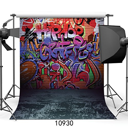 WOLADA 5x7ft Graffiti Style Vinyl Photography Backdrop Customized Photo Background Studio Prop 10930