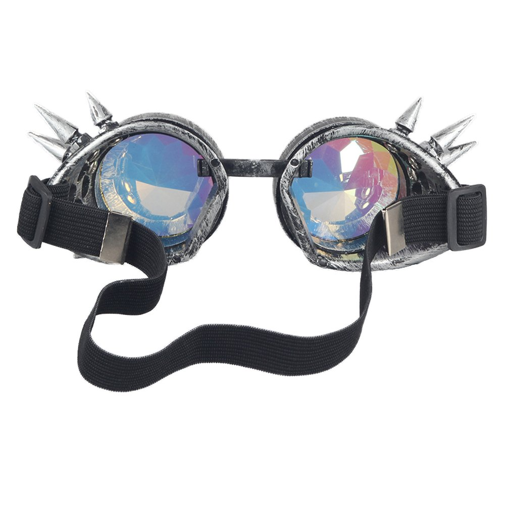OMG/_Shop Retro Vintage Victorian Steampunk Kaleidoscope Goggles Glasses Welding Cyber Punk Gothic Eye Protection Equipment for Cosplay Dance