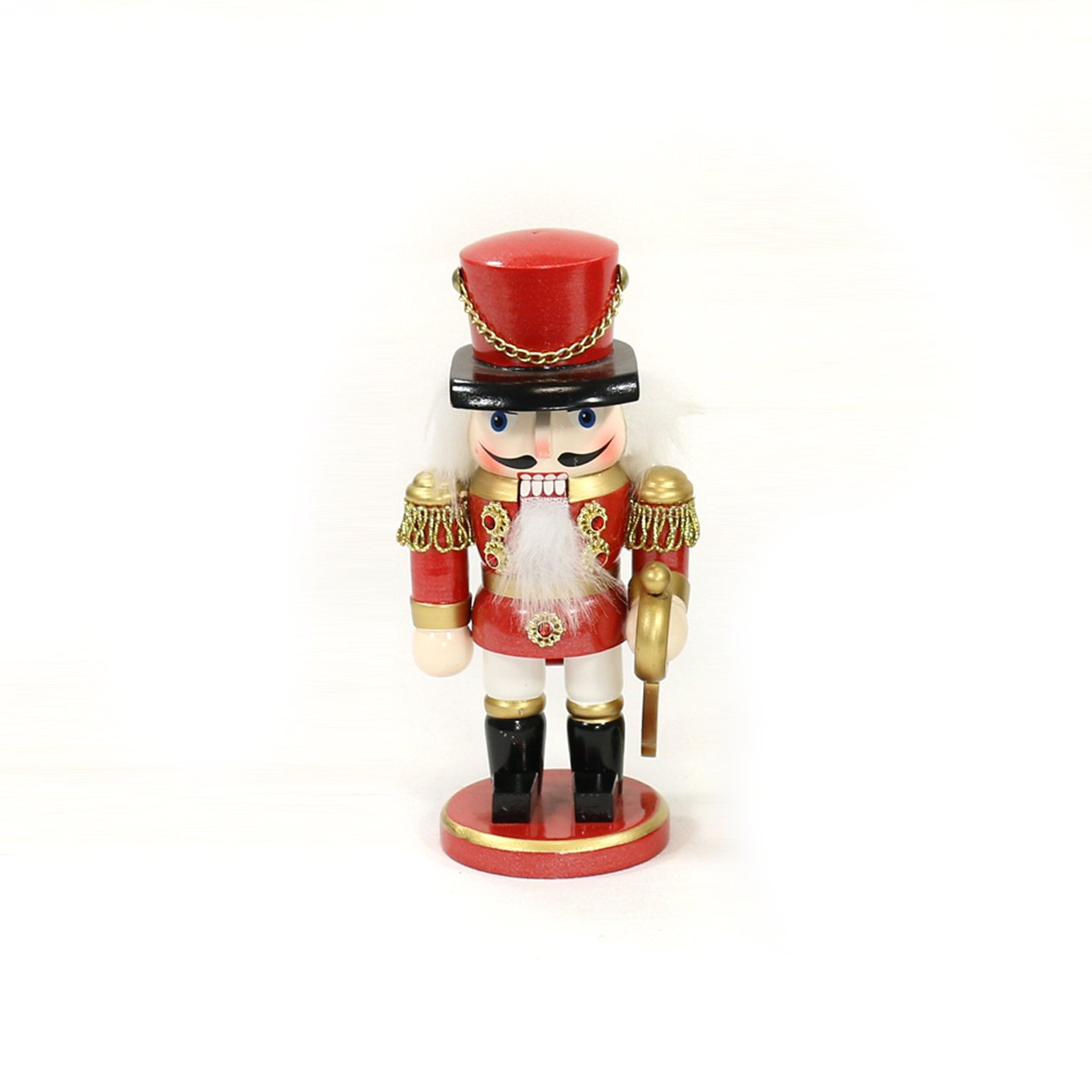 Dekohelden24 Beautiful Nutcracker Soldier, colour Red, size approx. 15 cm