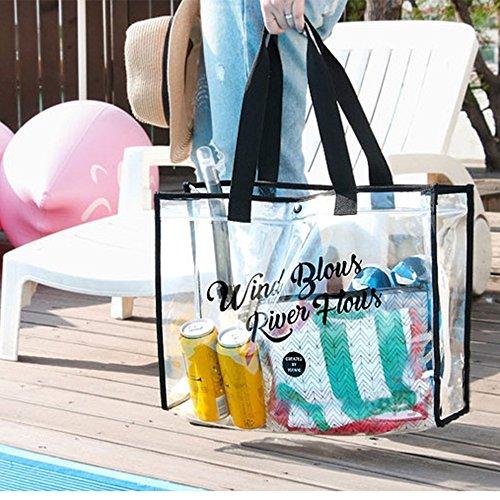 Yellow Toys LF Femmes Water Bandoulière Populaire Main Fourre Sac Sac Mode De Plage À À Sac Transparent Tout Black qqCFrTw