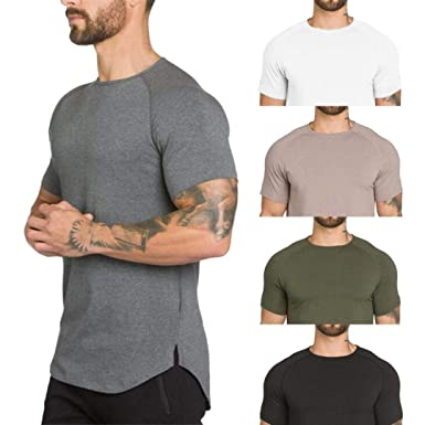 6c192ddd5322a Gym T Shirts for Men,Overdose Men's Gyms Crossfit Bodybuilding Fitness  Muscle Short Sleeve T-Shirt Top Blouse