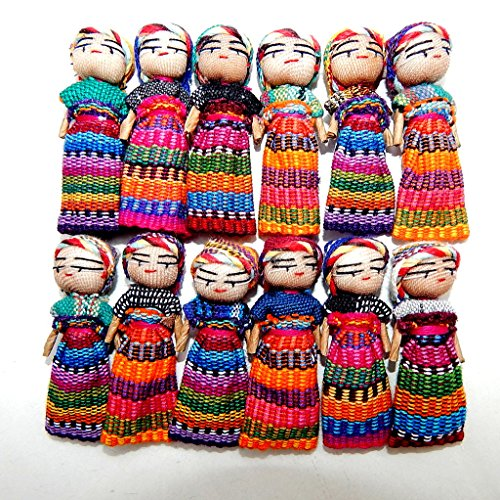 Worry Doll 2 Inch Size - One (Large Paper Doll)
