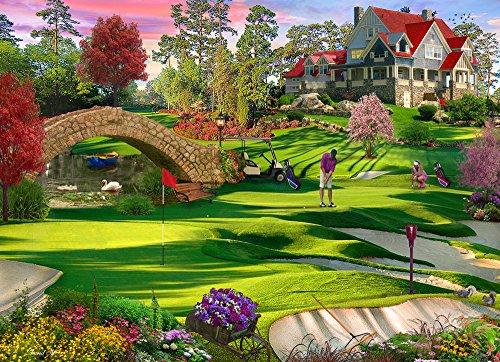 Vermont Christmas Company Golfers Paradise Jigsaw Puzzle 1000 Piece