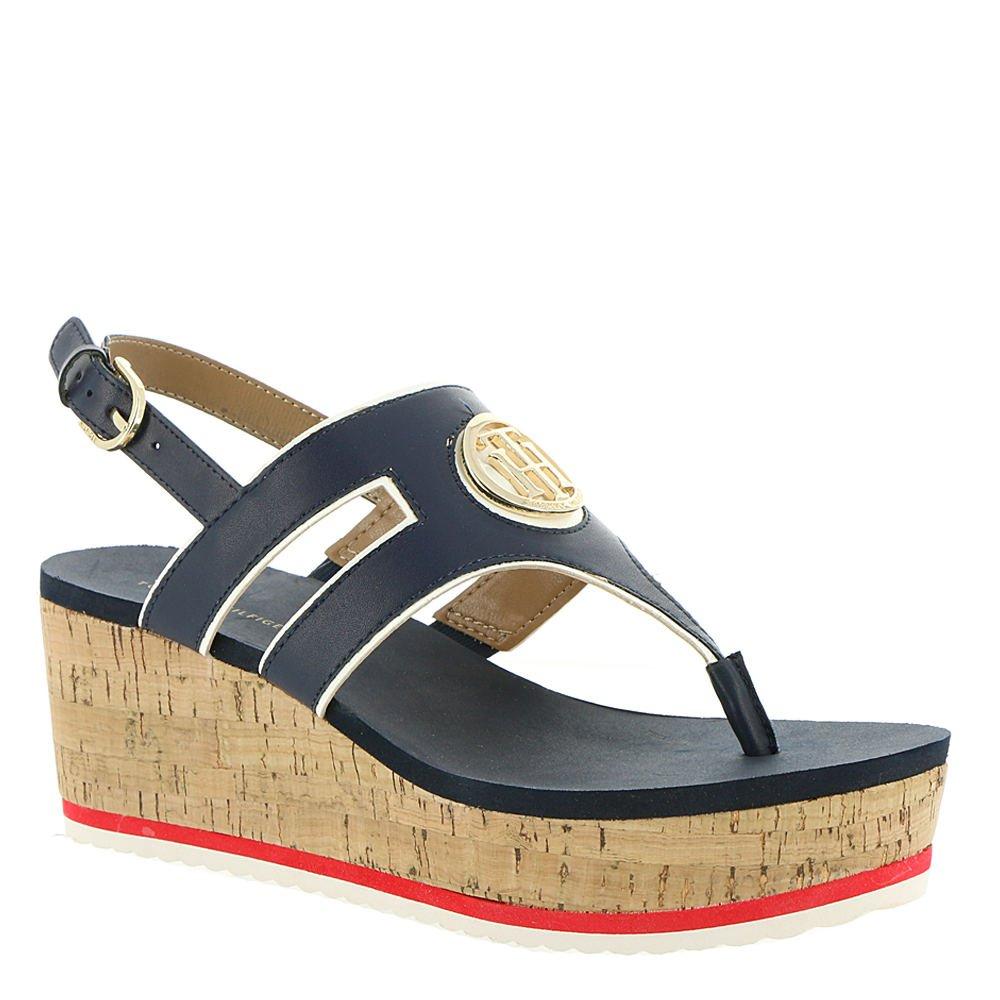 Tommy Hilfiger Gelia Women's Sandal B07BMY33YR 6.5 B(M) US|Navy-white-havana
