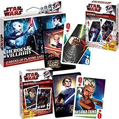 Stars Wars/Clone Wars Heroes and Villians Poker Playing Card