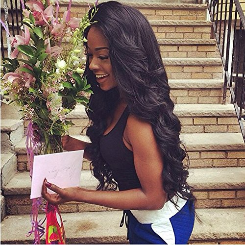 MORICHY-7A-Virgin-Hair-3-Bundles-With-Closure-Body-Wave-Brazilian-Hair-100-Unprocessed-Human-Hair-Weft