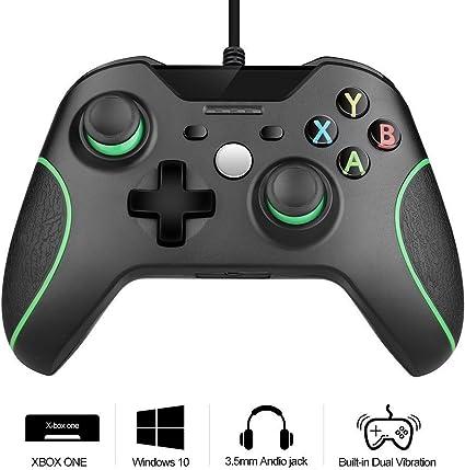 Controlador Xbox One, controlador de juegos de PC Rottay con cable ...