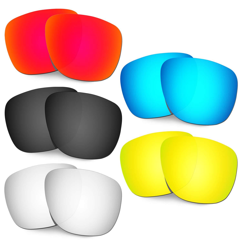 HKUCO 強化する交換用レンズ Oakley Crossrange XL OO9360 赤/ブルー/ブラック/24 Kゴールド/チタン サングラス   B07RQDNY2C