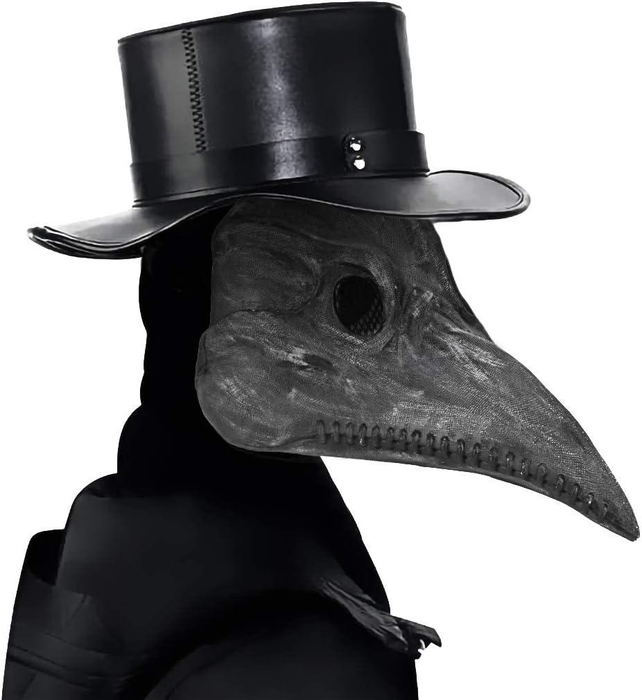 yidenguk Mascara Peste, Halloween Scary Mask Plague Bird Doctor Nariz Cosplay Fancy Gothic Steampunk Retro Rock Bird Mask