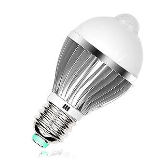 Costar LED Bombillas E27 9W Bombillas de Bajo Consumo con Sensor de Movimiento, Luz Blanca
