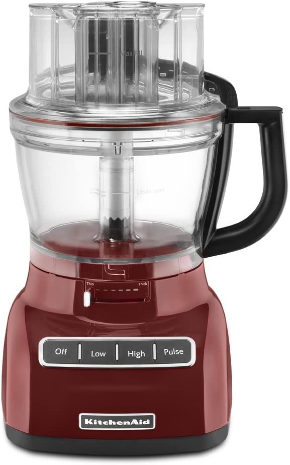KitchenAid KFP1333GC 13-Cup Food Processor with ExactSlice System - Gloss Cinnamon (Renewed)