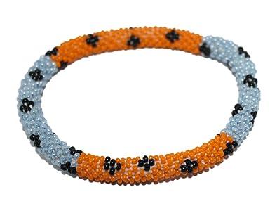 Amazon Com Goldenlines Crochet Glass Seed Bead Bracelet Roll On
