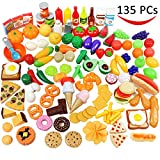 #5: Play Food Set 135 Pieces Play Kitchen Set, Market Educational Pretend Play Food, Toddlers Inspires Imagination, Children Pretend Food Toys and Kid Food Playset Toys by Joyin Toy